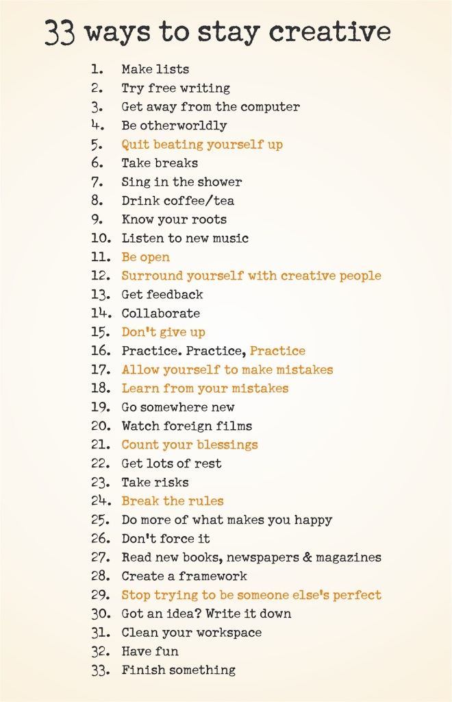 32 ways to stay creative