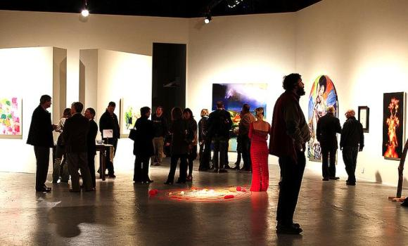 Pictured: Overturn the Artifice, a 2013 Commons Curatorial Residency Exhibition, photo by V. Crown